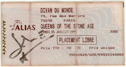 Ticket from July 5, 1999