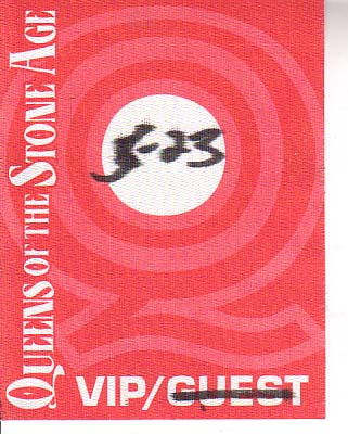 Backstage Pass from May 23, 2001