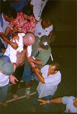 Nick Getting Arrested in Rio on Jan 19, 2001